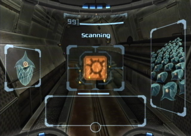 A good example of well done extra narrative is the scanning of background information in the Metroid Prime series. The player can immediately see whether she is scanning crucial information or background lore by the colour of the scan image. Furthermore, the acquiring of extra narrative this way feels natural to the game.
