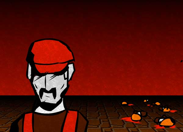Most game antagonists have character traits bordering on the psychotic. (Still from 'The People's Mario' http://youtu.be/Q_xQ-ns5whw)